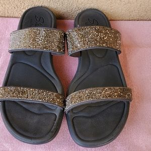 Skechers Luxe Foam Slide Sandals 9